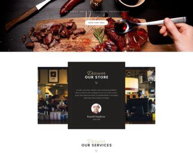Exemple de page pour un restaurant